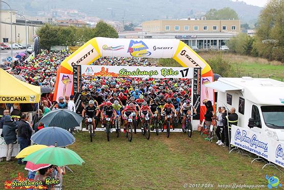 Partenza Sinalunga Bike 2017